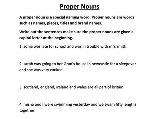 Proper Nouns by SkillsMastery - Teaching Resources - Tes
