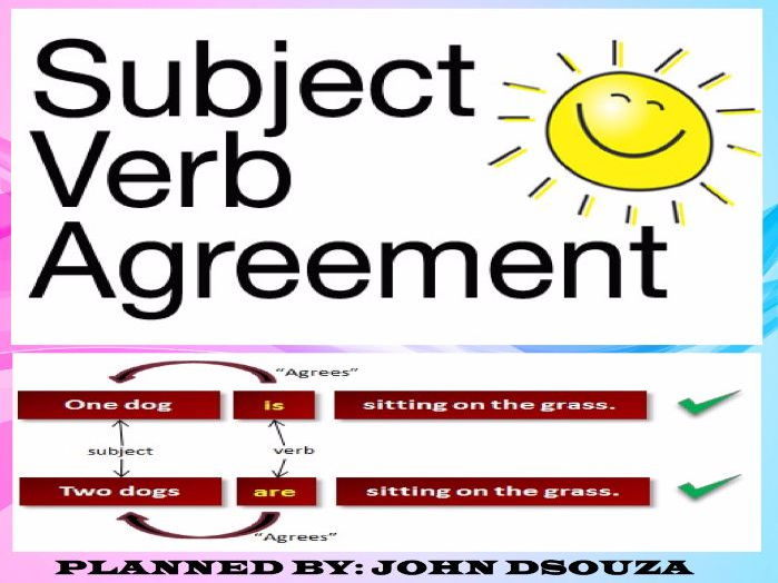 SUBJECT-VERB AGREEMENT LESSON PLAN AND RESOURCES by john421969