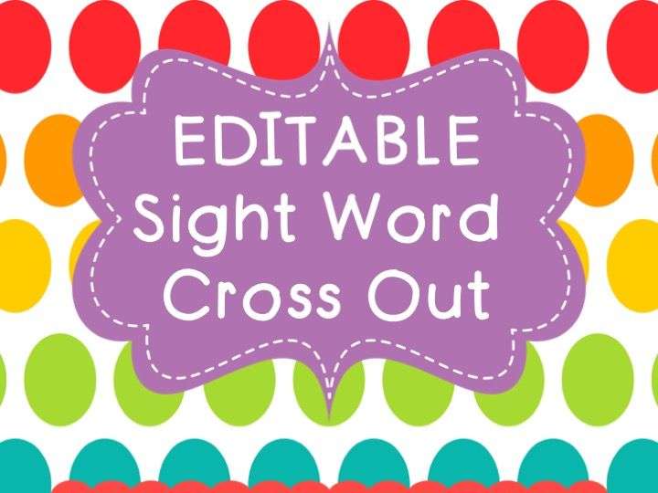 Sight Word Graphing EDITABLE by bpatterson1127 - Teaching Resources