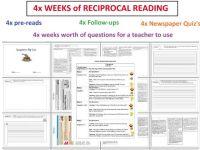Reciprocal Reading Worksheet - Bluegreenish