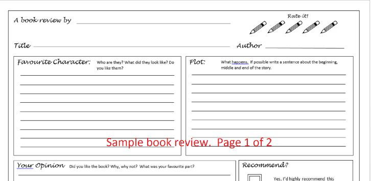Book Review Bundle by BubbleResources - Teaching Resources - Tes - printable book review template