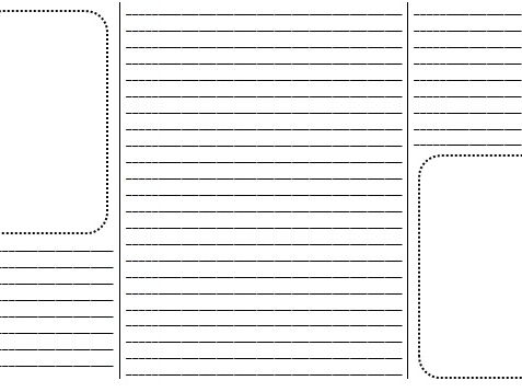 A blank brochure/booklet for children to write on (with lines) by
