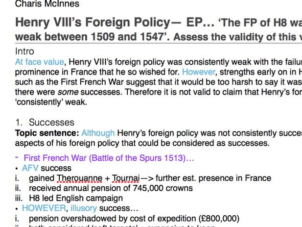 History A Level Success of Soviet Foreign Policy 1918-29 Essay Plan