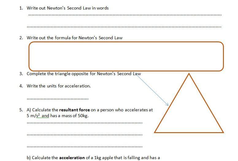Cozy Calculating Force Worksheet Newton S 2nd Law Kidz Activities