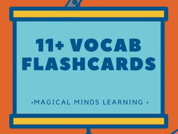 11+ Vocabulary Flashcards by magicalmindslearning - Teaching - vocab flashcards