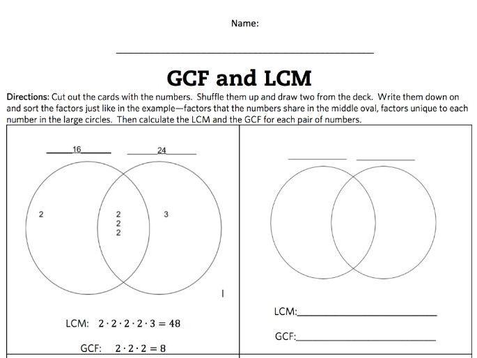 venn diagram for lcm