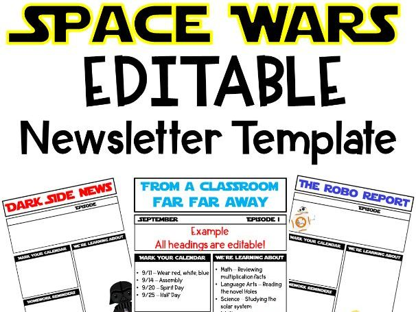 Space Wars Newsletter Template by missotech3 - Teaching Resources - Tes