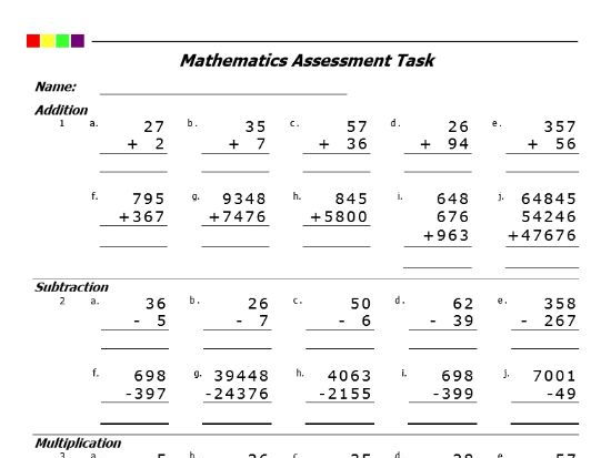 Addition Subtraction Multiplication Division Pdf By Pro