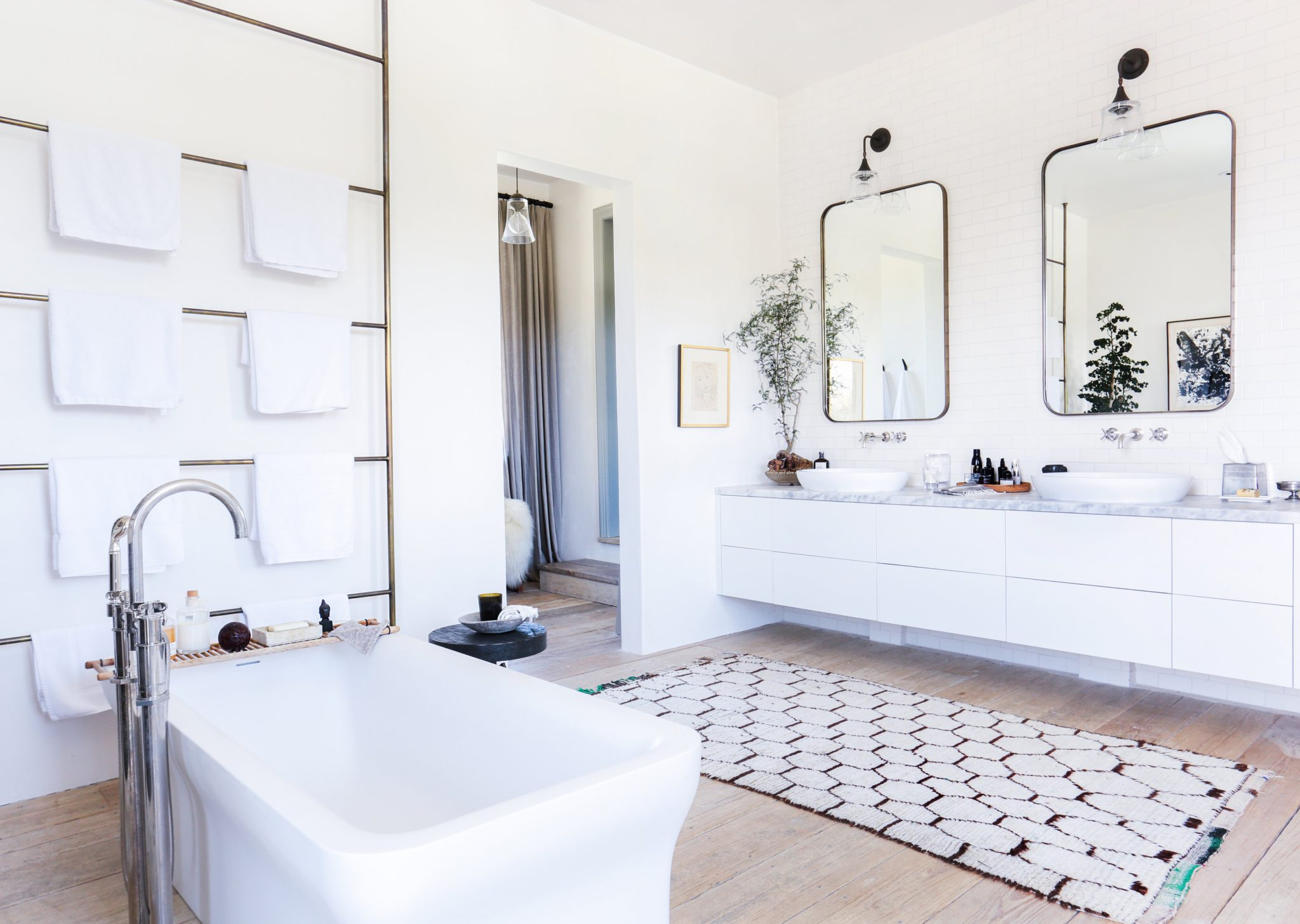 Luxurious Bathroom Retreats Featuring Waterworks Chairish Blog