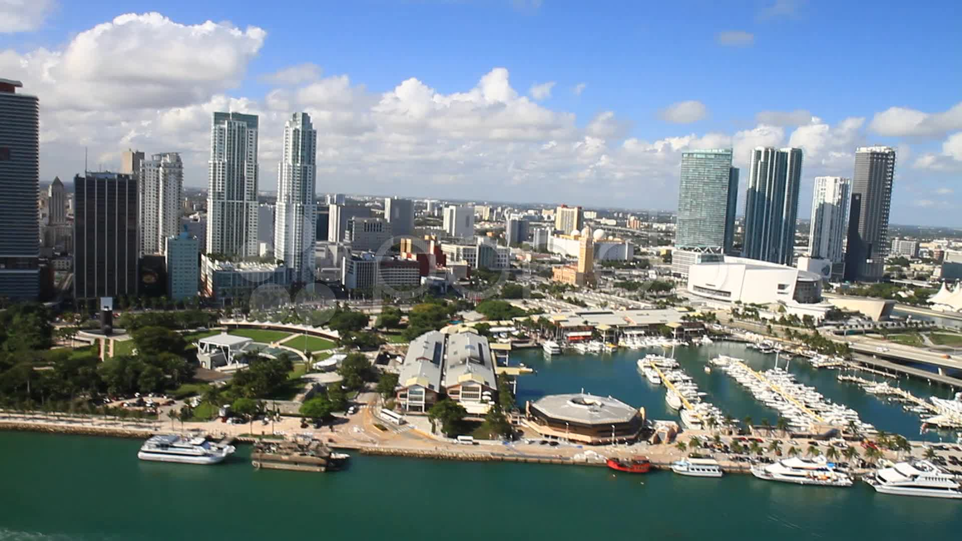 Hd Wallpaper Cars Free Download Aerial View Of Bayside Marketplace Miami Fl Stock Video