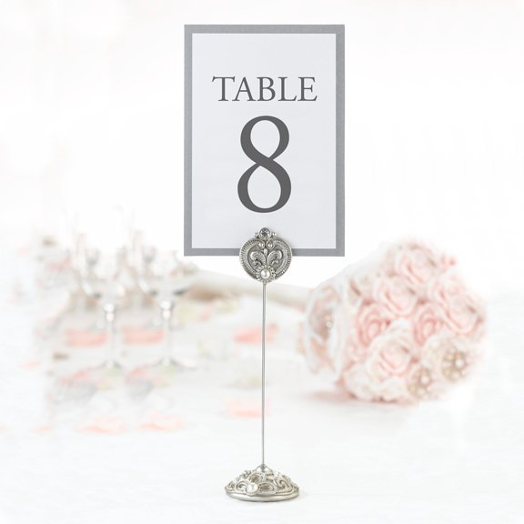 Jeweled Table Card Holders for Weddings (Set of 4)