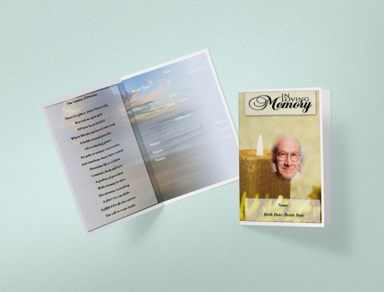 Funeral Templates Printable Funeral Program Templates