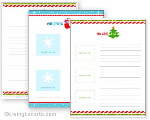 Free Printable Christmas Wish List - 24/7 Moms - printable santa wish list