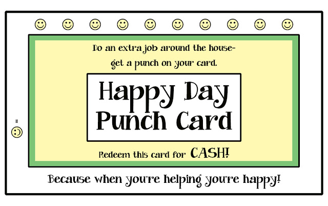 Chore Motivating Punch Cards {Free Printable} - 24/7 Moms