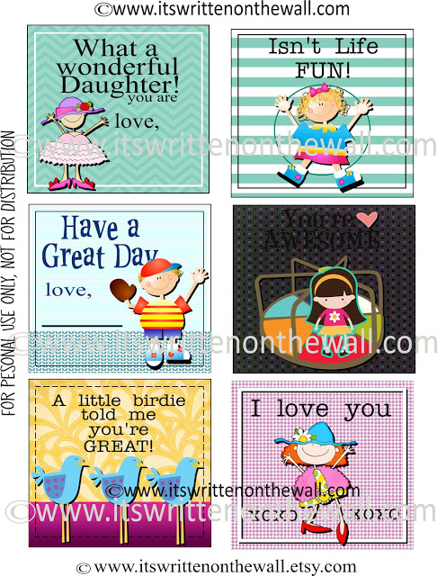 48 FREE Lunchbox Notes For Kids - 24/7 Moms
