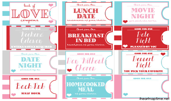 Printable Love Coupon Book - 24/7 Moms