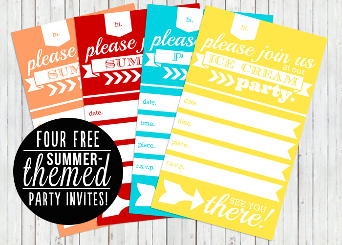 Free Summer Themed Party Invite Printables - 24/7 Moms