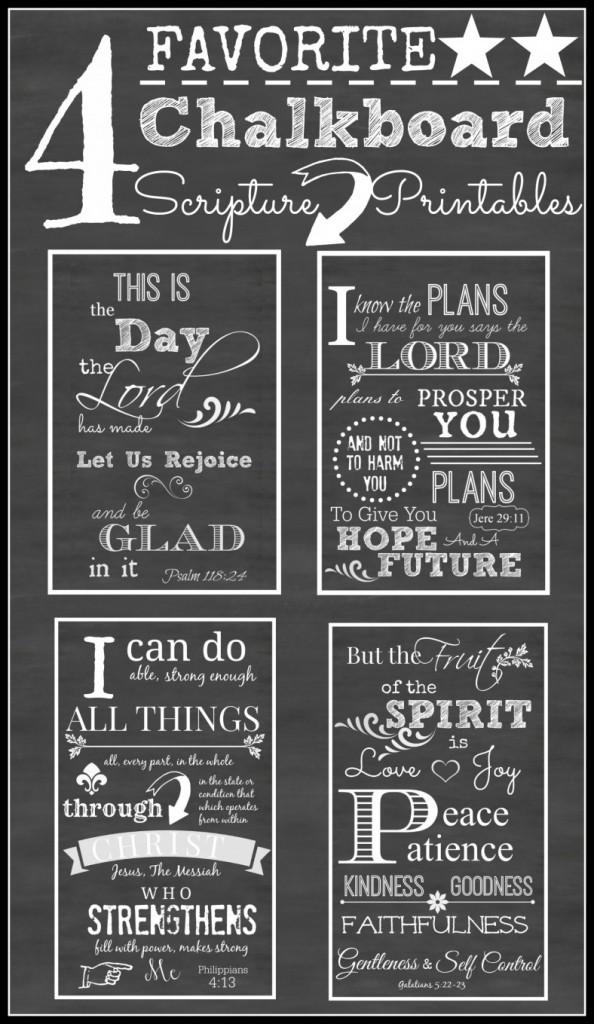 4 Free Printable Chalkboard Scriptures - 24/7 Moms