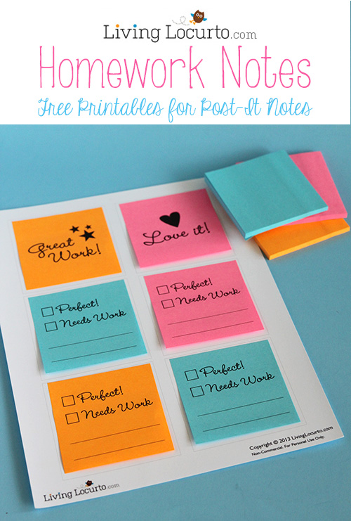 Free Printables for Post It Notes for Back to School - 24/7 Moms