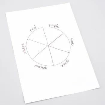 Family how-to make a colour wheel Blog Royal Academy of Arts