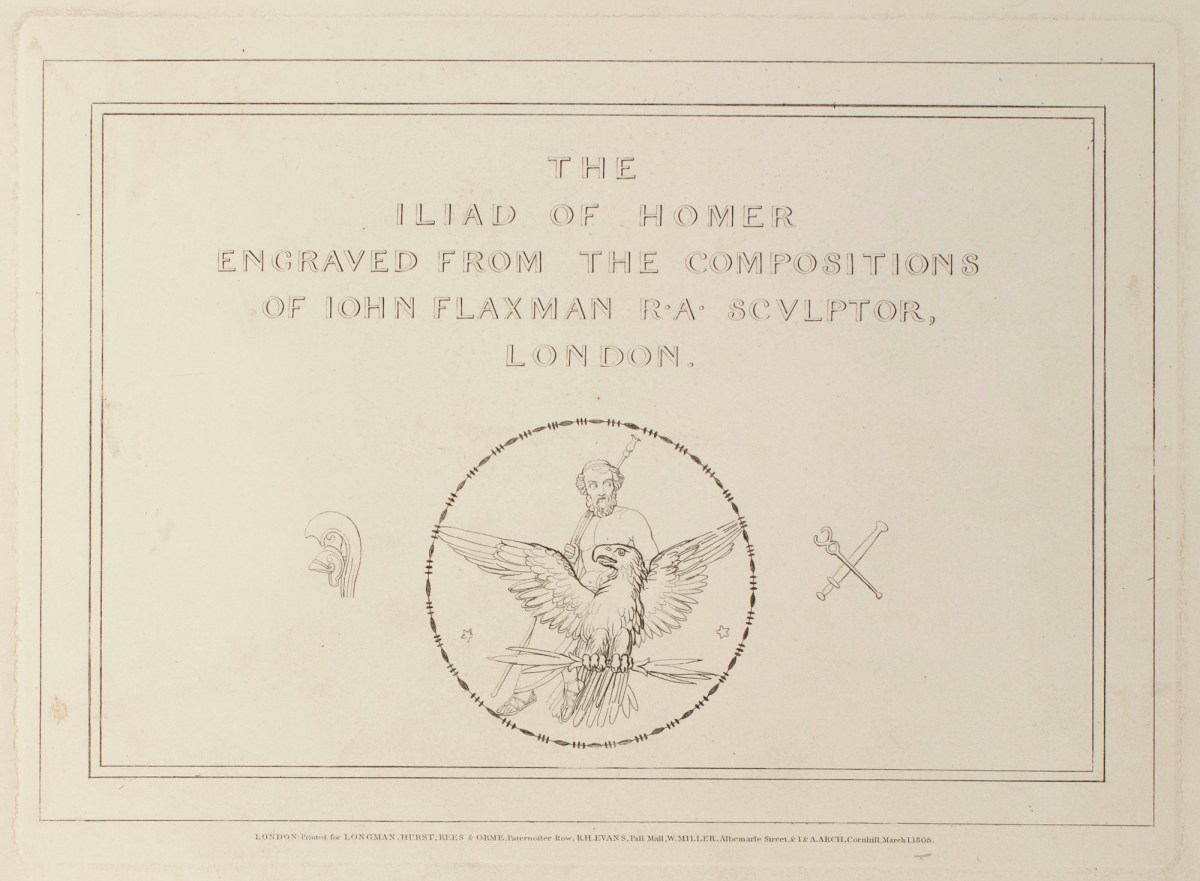Iliad Homer The Iliad Of Homer Engraved From The Compositions Of Iohn Flaxman