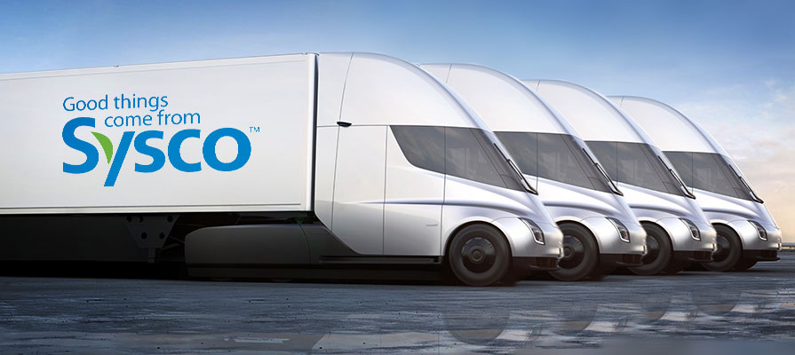Sysco Teams Up with Tesla for an Electric Semi Tractor Fleet Deli