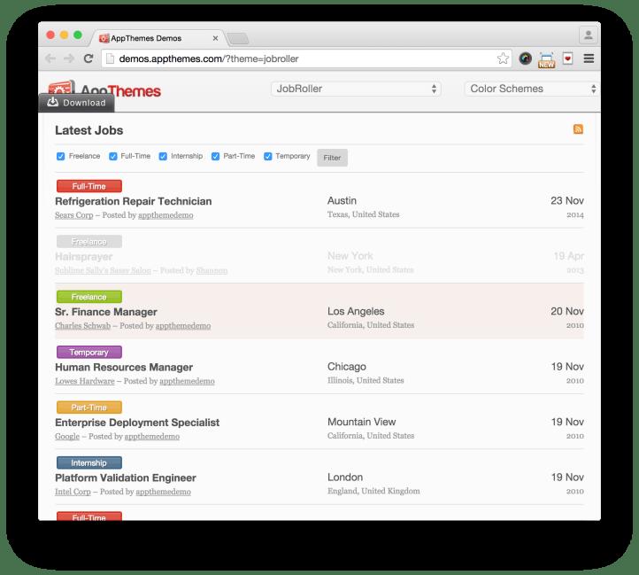 resume manager plugin wordpress free download sample job