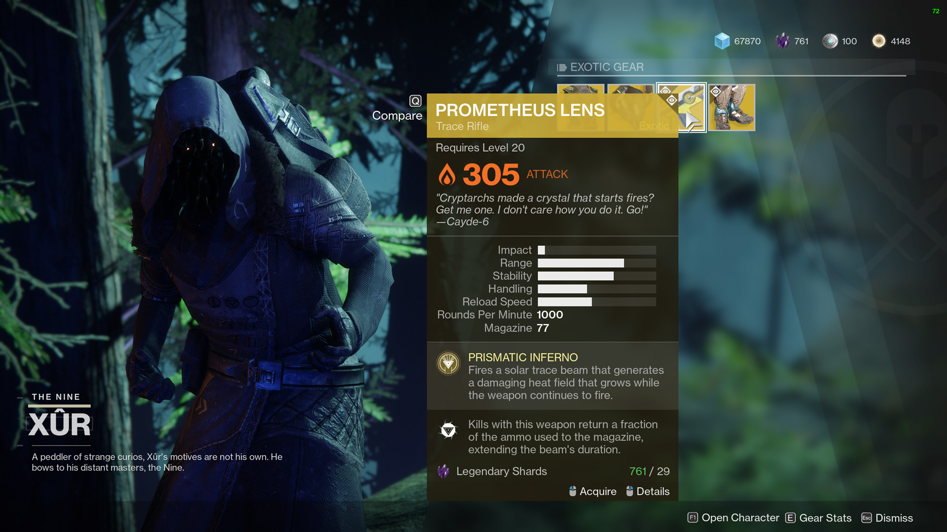 Xur Destiny 2 What Is Xur Selling December 8 2017 Week 14