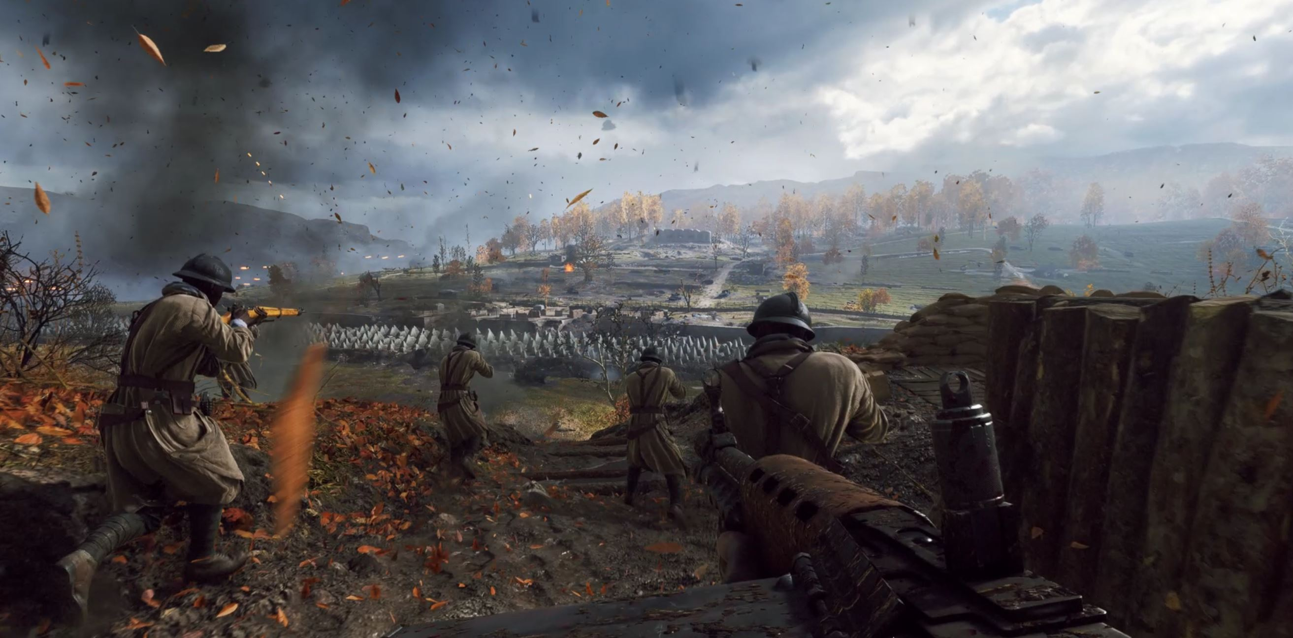 Blood Falling Wallpaper Battlefield 5 Review Breathtaking Disappointing And