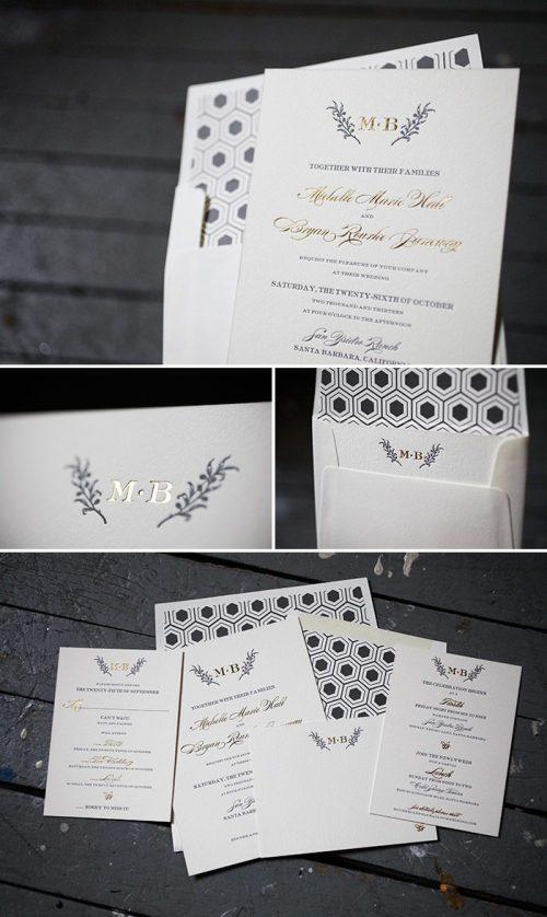 Medium Of Wedding Invitation Suite