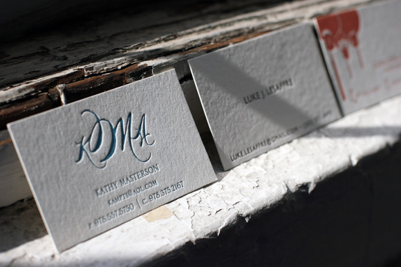 Custom Letterpress Business Cards - Smock