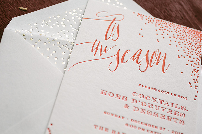 Custom holiday cocktail party invitations