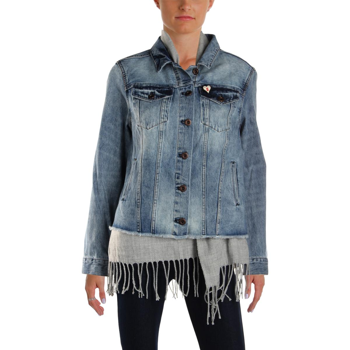 Jean Scotch Soda Scotch Soda Womens Blue All Season Denim Jean Jacket Outerwear L