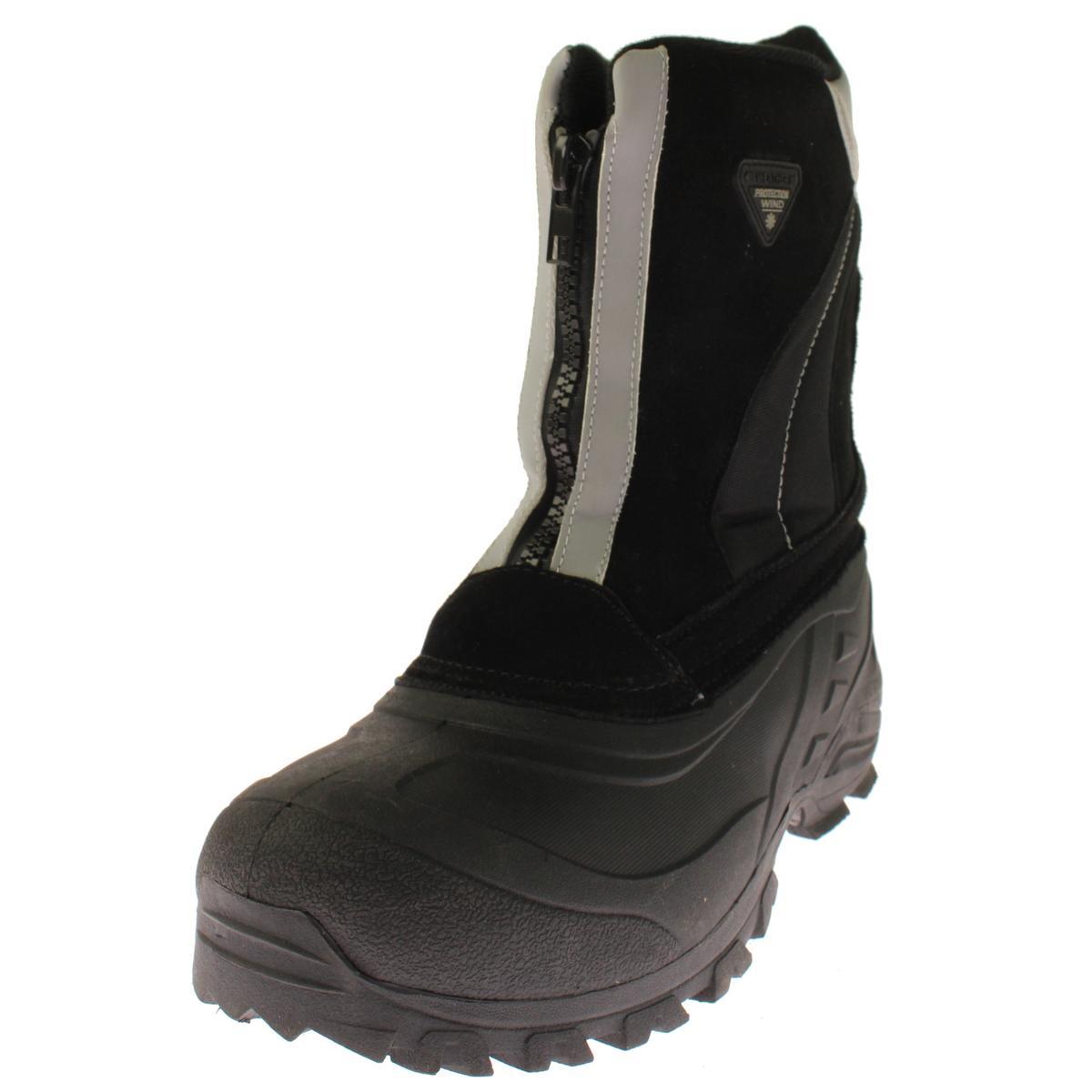 Totes 8921 Mens Jorge Black Suede Waterproof Snow Boots