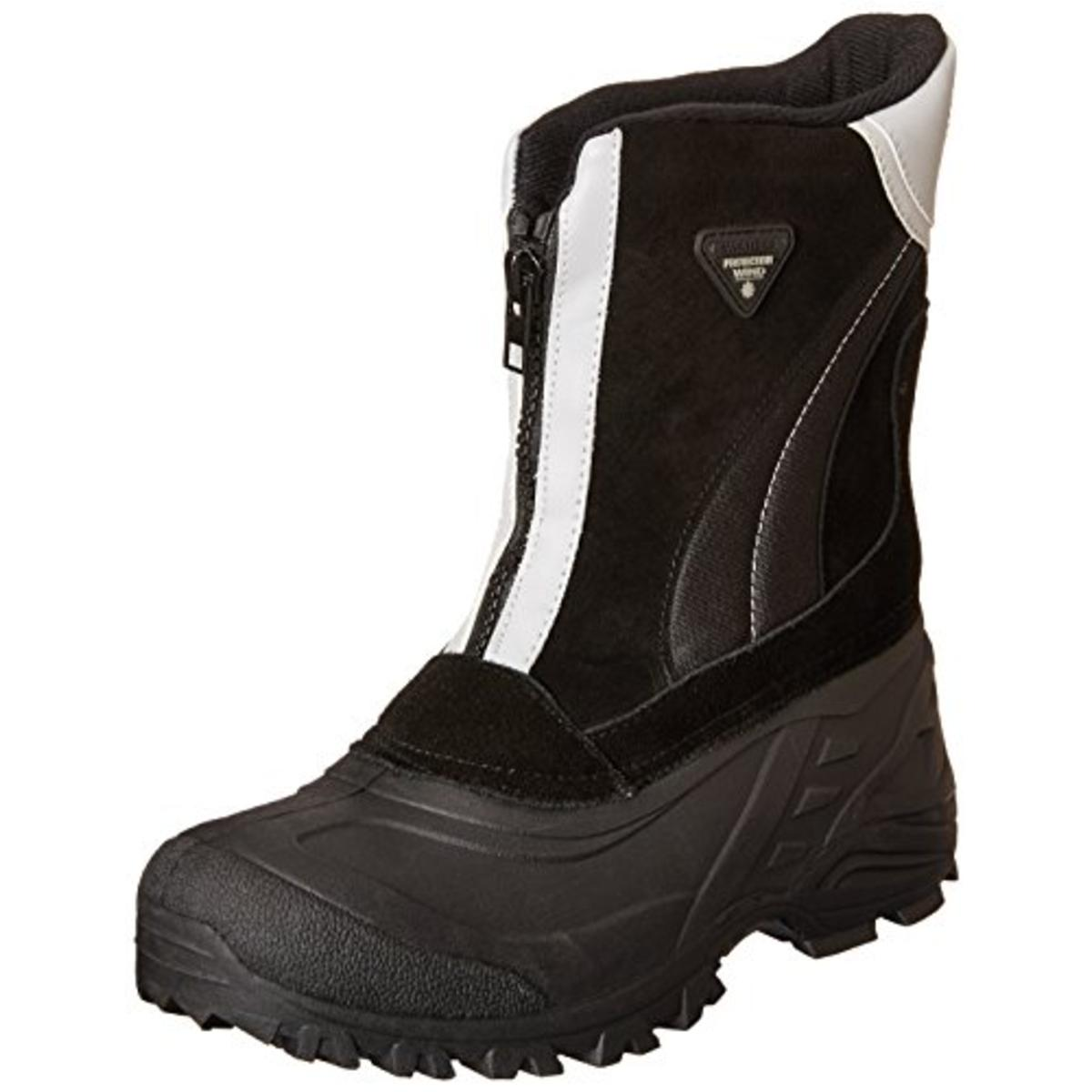 Totes 9401 Mens Jorge Black Suede Waterproof Snow Boots