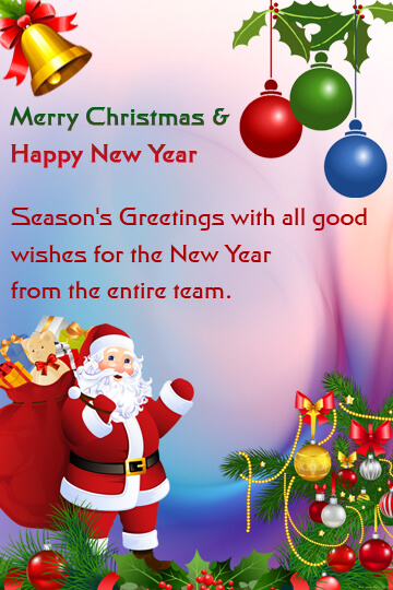 Guest Services - Christmas And New Year Greetings For Guests