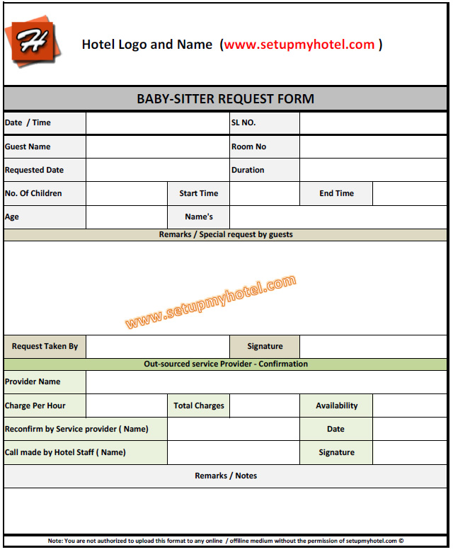 Emerit Housekeeping Room Attendant Training Babysitting Request Form For Hotels Resorts