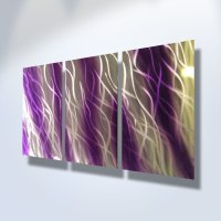 Reef Purple - Abstract Metal Wall Art Contemporary Modern ...