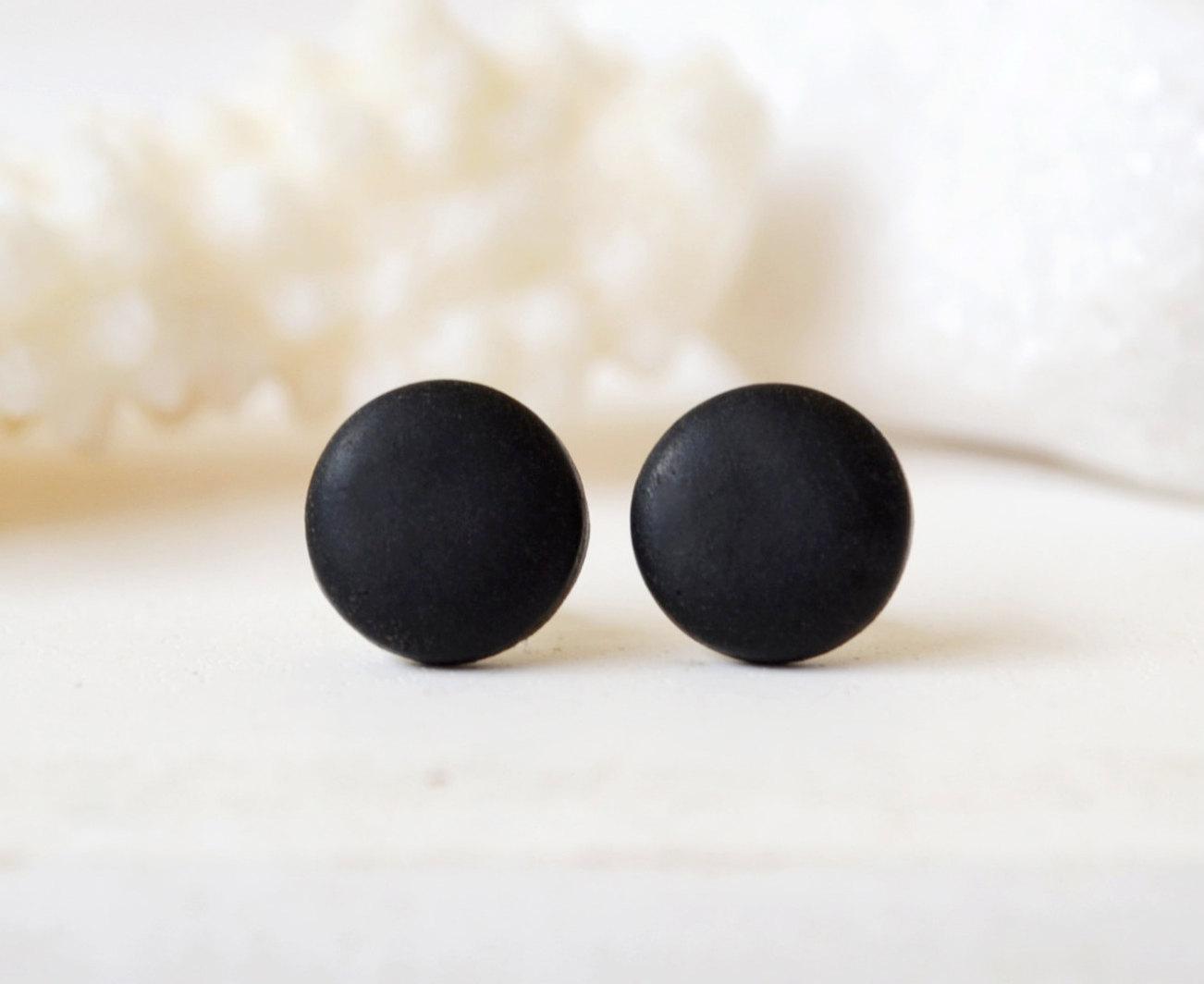 Black Studs Matte Black Earrings Earrings For Men