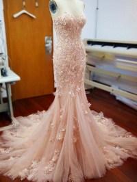 sweetheart wedding dress ,long beautiful mermaid wedding ...