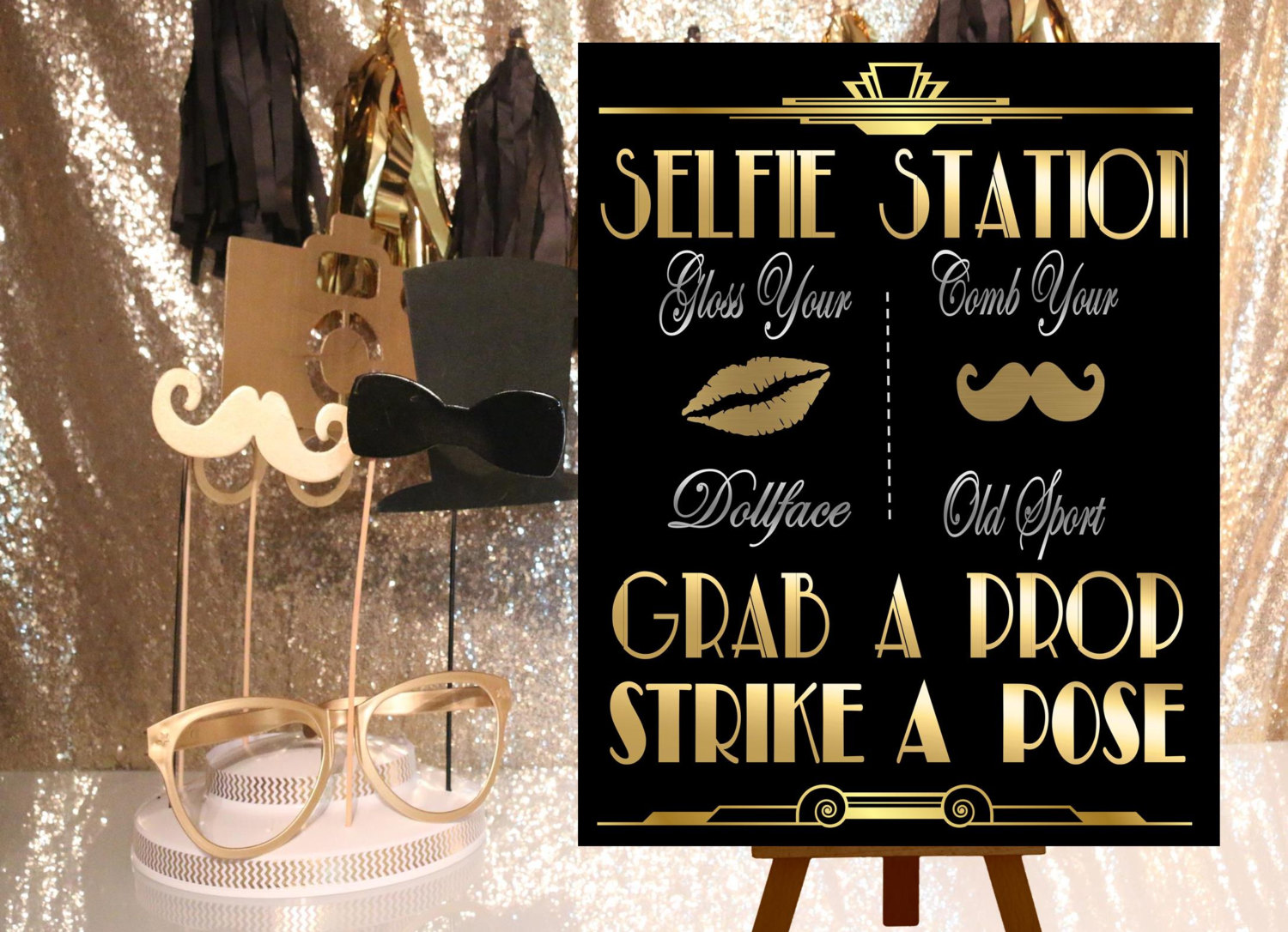 Decor Photobooth Great Gatsby Printables Selfie Station Photobooth Sign Gatsby Party Decoration Roaring 20s Art Deco Wedding Photobooth Sign Grab A Prop From Ink Me