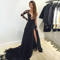 Small Of Long Sleeve Formal Dresses