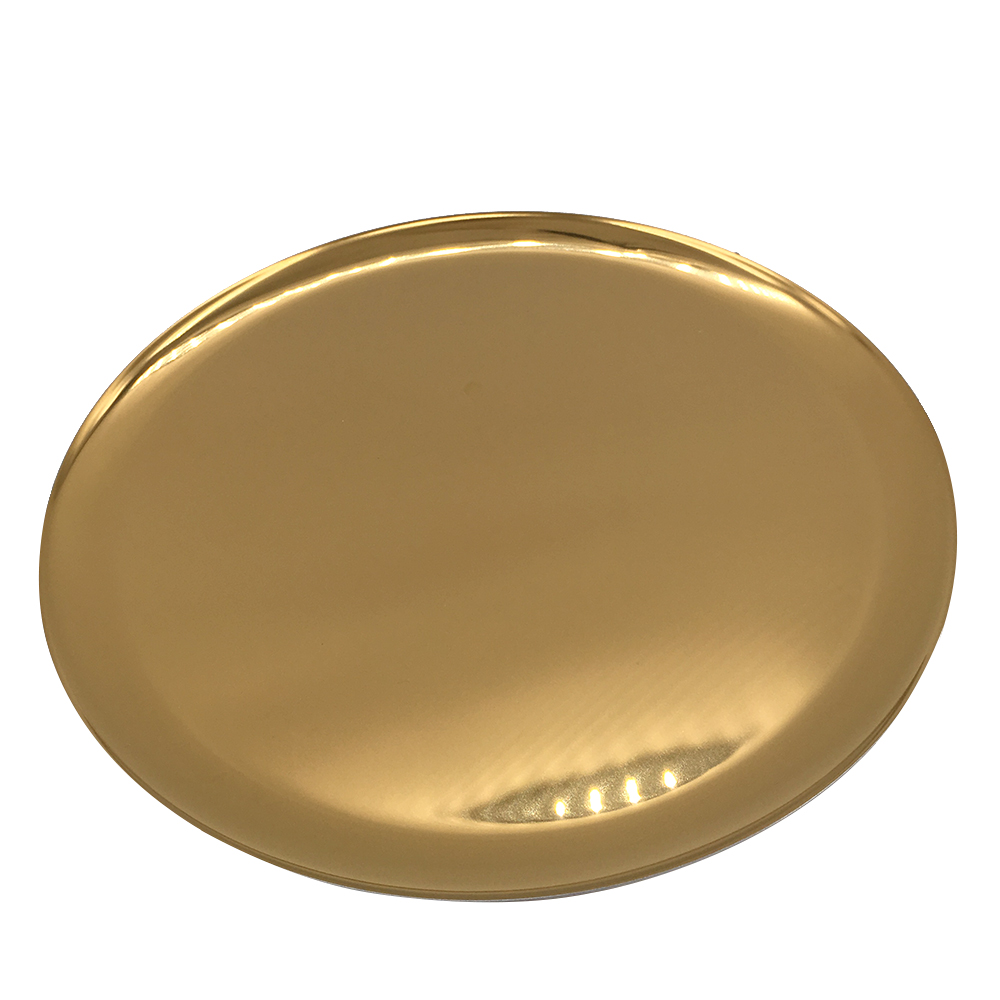 Gold Serving Tray Round Stainless Steel Serving Tray Bottle Cosmetics Jewelry Tray Gold 11 Inch Diameter