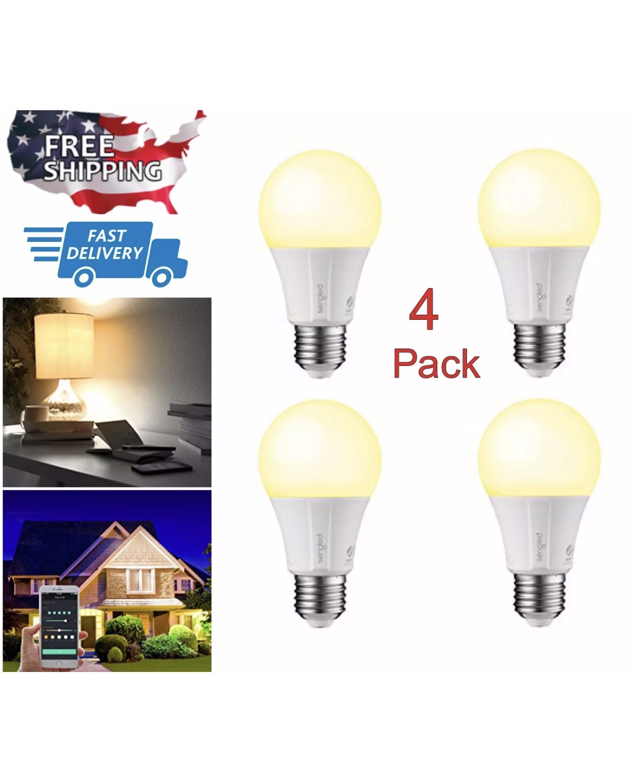 60w Light Bulb 4 Pack 60w Light Smart Home Dimmable Led Bulb Wifi Bluetooth Smartphone Alexa Control From Today S Tec