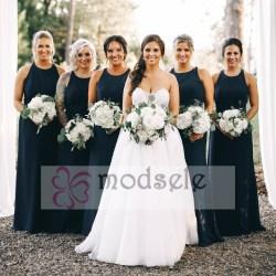 Small Crop Of Navy Blue Bridesmaid Dresses