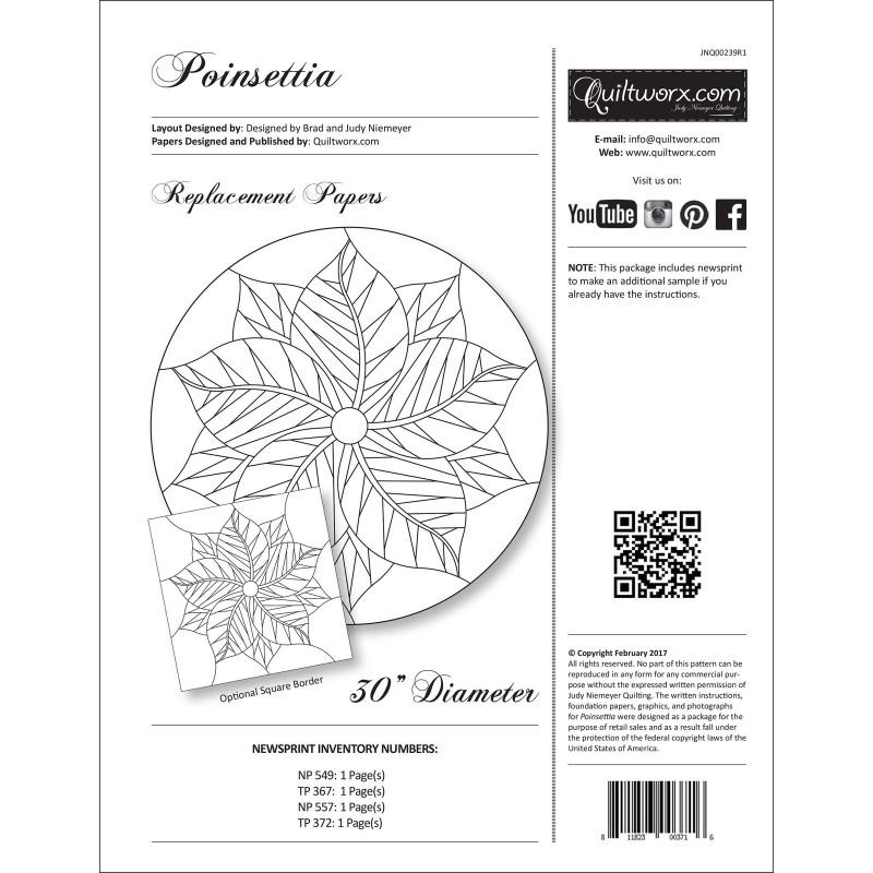 Poinsettia Table Topper EE Schenck Co