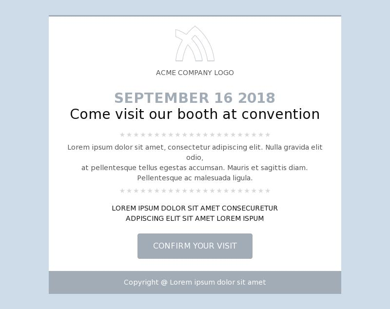 Booth Invitation Service Promotion Email Template for Business