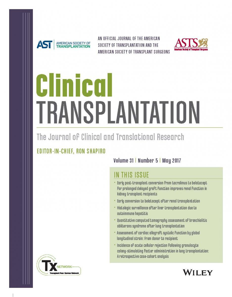 Journal Of Clinical Clinical Transplantation