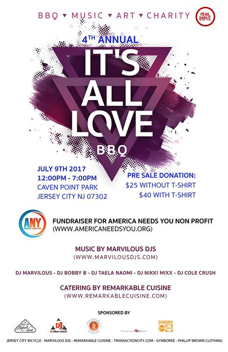 4th Annual It\u0027s All Love BBQ to Benefit America Needs You NJ - chicpeaJC - bbq benefit flyers