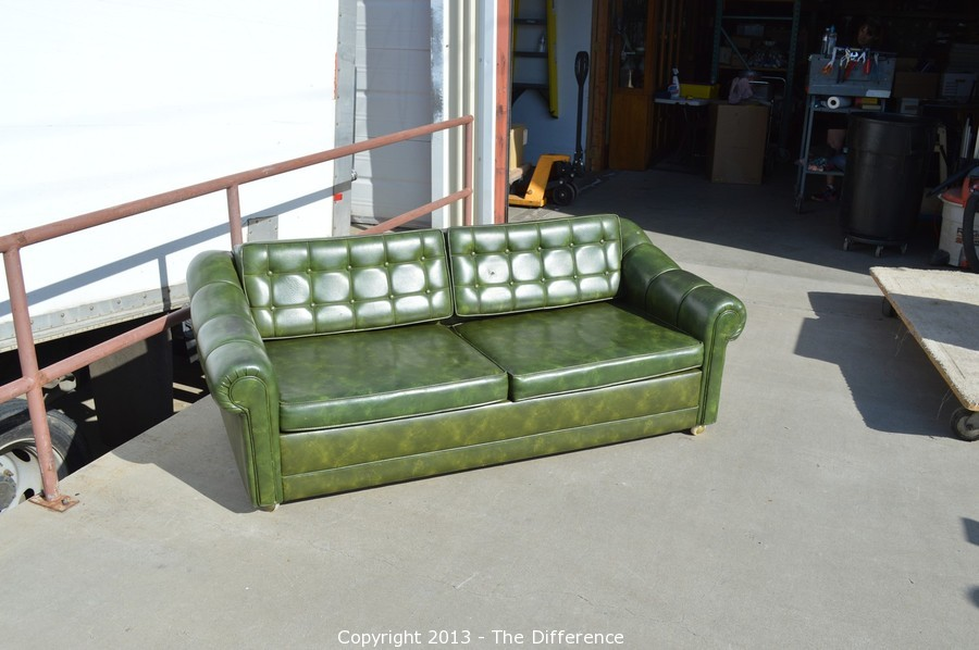 Retro Orange Vinyl Sofa The Difference - Auction: Estate Clearance-something For